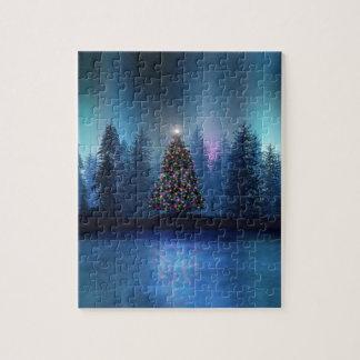 オーロラのBorealisのクリスマス ジグソーパズル