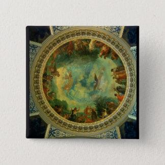 オーロラ、図書館から多分絵を描く天井 5.1CM 正方形バッジ