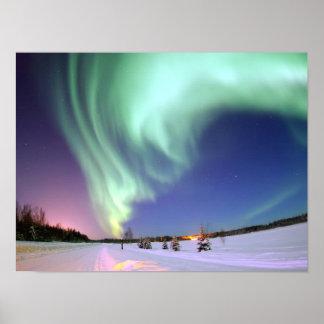 オーロラ-美しいNorthern Lights ポスター