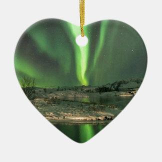 オーロラBorealisアイスランド セラミックオーナメント