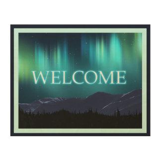 オーロラBorealis (Northern Lights) -歓迎 ウッドウォールアート