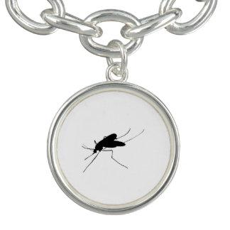カのシルエットの迷惑の昆虫か虫の害虫 チャームブレスレット