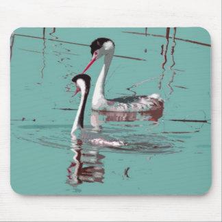 カイツブリ目の鳥の野性生物動物の沼地 マウスパッド