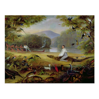 カイマン1825-26年を捕獲しているチャールズWaterton ポストカード