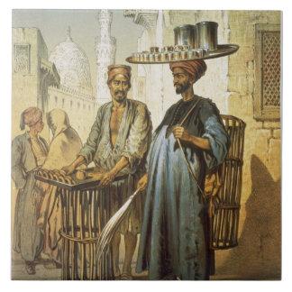 「カイロの記念品」からの茶販売人、1862年(リチウム タイル