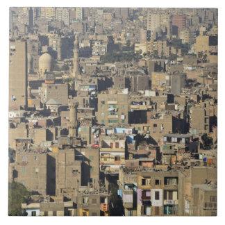 カイロの都市景観 正方形タイル大