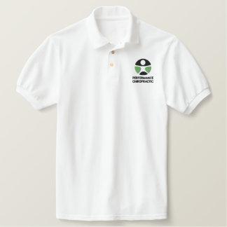 カイロプラクティックのロゴによって刺繍されるポロシャツ 刺繍入りポロシャツ