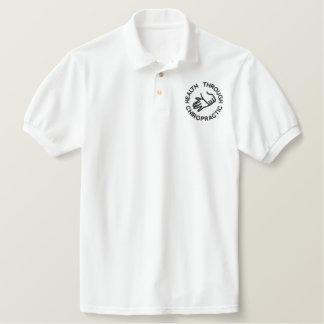 カイロプラクティックのロゴによって刺繍されるポロ 刺繍入りポロシャツ