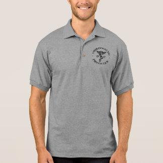 カイロプラクティックの医者のロゴのポロシャツ ポロシャツ
