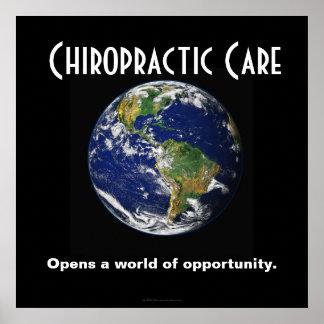 カイロプラクティックポスター: 機会の世界を開けます ポスター