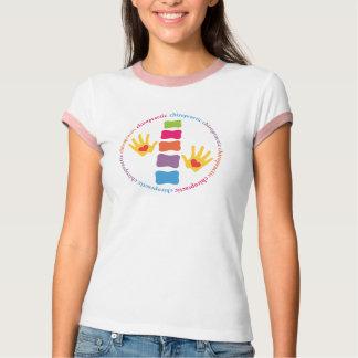 カイロプラクティック手および脊柱のTシャツ Tシャツ