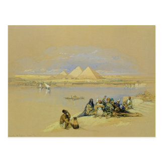 カイロ(w/c)の近くのギーザのピラミッド、 ポストカード
