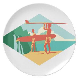 カウアイ島のサーファー プレート