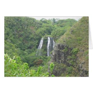 カウアイ島の滝 カード