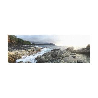 カウアイ島の潮プール キャンバスプリント