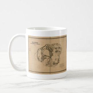 カウアイ島1878年のヴィンテージのハワイの地図 コーヒーマグカップ
