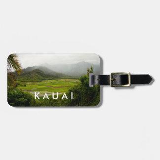 カウアイ島、ハワイの景色場面 ラゲッジタグ