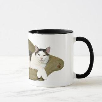 カウチ・ポテト族猫のコップ マグカップ