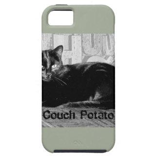 """""""カウチ・ポテト族""""の黒猫 iPhone SE/5/5s ケース"""