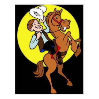 カウボーイおよび彼の馬 ポストカード