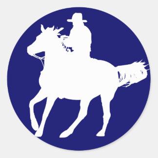 カウボーイおよび彼の馬 ラウンドシール