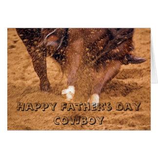 カウボーイおよび馬の父の日カード カード