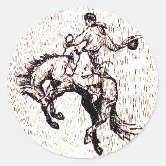 カウボーイのお祝いの国家的記念日 ラウンドシール