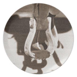カウボーイのギアのメラミンプレート プレート