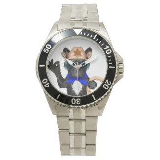 カウボーイのパグ-犬のカウボーイ 腕時計