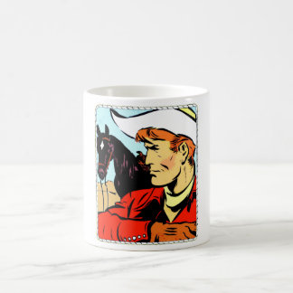 カウボーイのポートレート モーフィングマグカップ