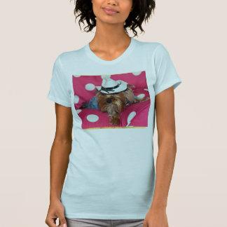 カウボーイのヨークシャーテリア Tシャツ
