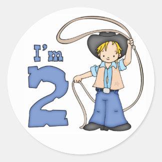 カウボーイのローパーの第2誕生日 ラウンドシール