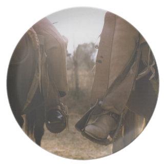 カウボーイの乗馬馬 プレート