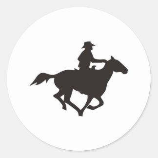 カウボーイの乗馬 ラウンドシール