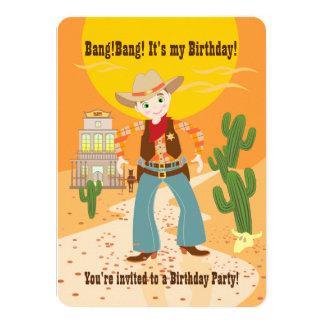 カウボーイの子供の誕生日のパーティの招待状 カード