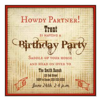 カウボーイの誕生日の招待状 カード