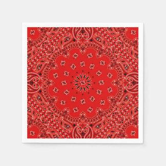 カウボーイの赤いペイズリーのバンダナのスカーフBBQのピクニックナプキン スタンダードカクテルナプキン