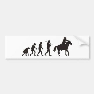 カウボーイの進化 バンパーステッカー