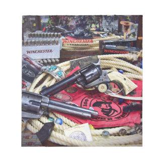 カウボーイの銃および収集品 ノートパッド