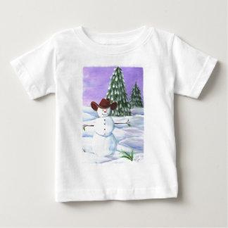 カウボーイの雪だるま ベビーTシャツ