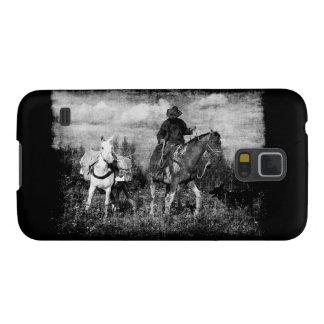 カウボーイの馬およびラバのSamsungの西部の例 Galaxy S5 ケース