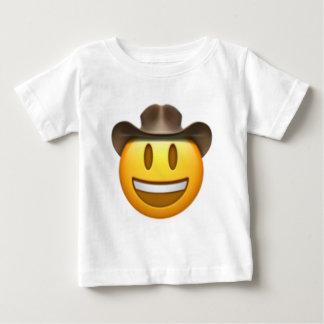 カウボーイのemojiの顔 ベビーTシャツ