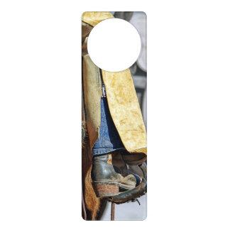 カウボーイ・ブーツの写真 ドアノブプレート