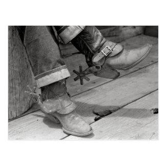 カウボーイ・ブーツ1940年 ポストカード