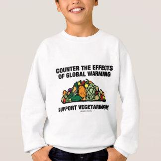 カウンターの効果の地球温暖化サポートベジタリアン スウェットシャツ