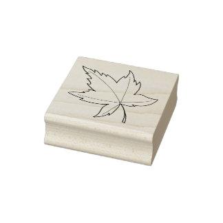 カエデの葉のイラストレーション ラバースタンプ
