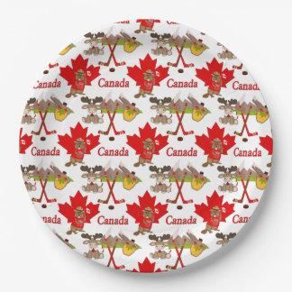 カエデの葉のカナダ人150記念日 ペーパープレート