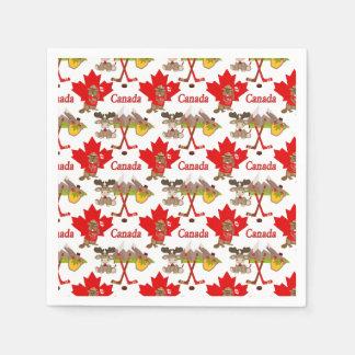 カエデの葉のカナダ人 スタンダードカクテルナプキン