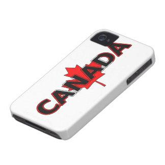 カエデの葉のブラックベリーのはっきりしたな箱が付いているカナダ Case-Mate iPhone 4 ケース