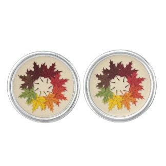 カエデの葉の円 カフスリンク
